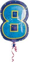 8 jaar cijferballon - 46 cm