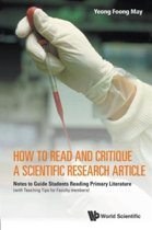 How To Read And Critique A Scientific Research Article