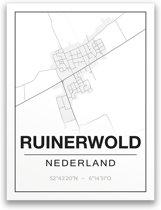 Poster/plattegrond RUINERWOLD - A4