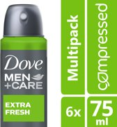 Dove Men+Care Extra Fresh Deodorant - 6 x 75 ml - Voordeelverpakking