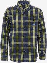 jongens Blouse Tiffosi-jongens-overhemd/blouse Fluo-kleur: geel/blauw-maat 140-WINTER 16/17 5604007917191