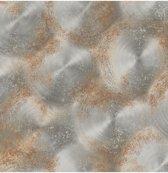 Reclaimed Tarnished Metal bruin behang (vliesbehang, bruin)