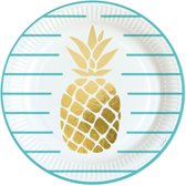 8x Ananas bordjes 23 cm