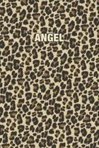 Angel: Personalized Notebook - Leopard Print (Animal Pattern). Blank College Ruled (Lined) Journal for Notes, Journaling, Dia