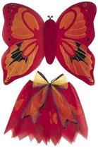 Vlinder set voor kinderen  Rood