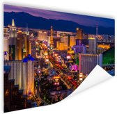 Las Vegas by night Poster 150x75 cm - Foto print op Poster (wanddecoratie)