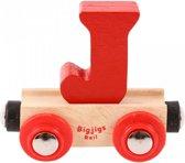 Bigjigs - Rails - Naamtrein - Letter J - Geel