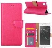 Sony Xperia XA1 Plus Portemonnee hoesje / book case Pink