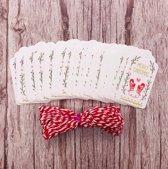 ProductGoods - 50 luxe kleine kerst en nieuwjaar kaarten - Merry Christmas