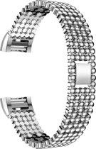 Beadstyle bandje Zilver geschikt voor Fitbit Charge 3