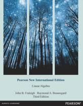 Linear Algebra: Pearson  International Edition