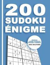 200 Sudoku nigme - Facile Livre Puzzle Grand Format - Avec Solutions