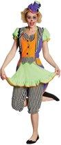 Rubie's Verkleedkostuum Clown Dames Multicolor Maat 46