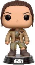 Funko Pop! Star Wars 7 Bobble Head N° 161 Rey In Finn's Jacket (Limited) - Verzamelfiguur
