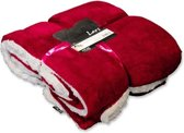 Unique Living Lars - Fleece - 150x200 cm - Rood