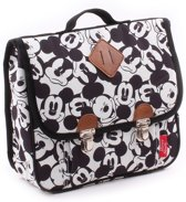 Disney Mickey Mouse My Little Bag Kleutelboekentas Unisex - Wit - Diverse Mickey gezichten