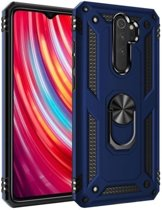 Teleplus Xiaomi Redmi Note 8 Pro Case Vega Ringed Tank Cover Navy Blue hoesje