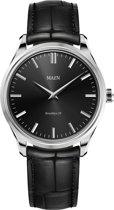 Maen MN1531.2.1.1 horloge heren - zwart - edelstaal