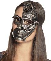 Steampunk robot half masker voor vrouwen - Verkleedmasker