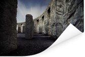 Stonehenge van de binnenkant Poster 120x80 cm - Foto print op Poster (wanddecoratie woonkamer / slaapkamer)
