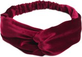 Velvet haarband, bordeaux/rood