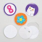Buttonsets - maak je eigen - knutselpakket voor kinderen  (10 stuks)