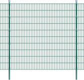 vidaXL Dubbelstaafmat 2008 x 2030 mm 40 m groen 20 stuks