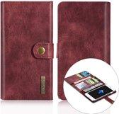 DG-Ming Luxe Magnetische Leren Wallet iPhone 7/8 plus - Wijnrood
