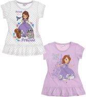 Disney-Sofia-de-Eerste-2-pak-T-shirt-paars-maat-110