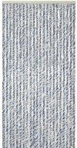 Kattenstaart - 56x180 cm - Blauw/Grijs/Wit