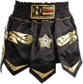 Kickboks Broek Muay Thai Black Star Heren Zwart Maat L