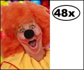 48x Schuimneus micky zwart