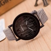 Hidzo Horloge Susenstone ø 37 mm - Grijs - In horlogedoosje
