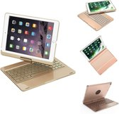 iPad 2018/2017/Air 1 Toetsenbord hoesje - CaseBoutique Bluetooth Keyboard Case - Goud - Aluminium Afwerking - QWERTY indeling