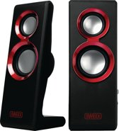Sweex 2.0 Speaker Set Purephonic - 20 Watt / Rood / USB