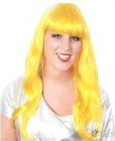 Sensation Pruik long style geel