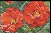 Thea Gouverneur Borduurpakket 427A Roos Orangeade - Aida stof 100% katoen