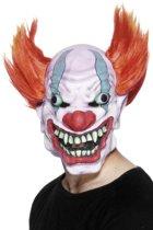 Monsterachtig clownsmasker voor volwassenen Halloween - Verkleedmasker - One size
