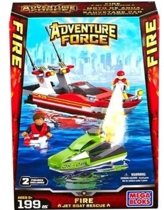Mega Bloks Adventure Force Fire Jet Boat Rescue