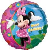 Aluminium ballon Happy Birthday Minnie™ - Feestdecoratievoorwerp