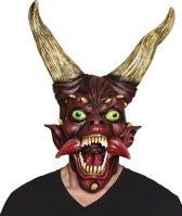 Latex hoofdmasker Duivel master