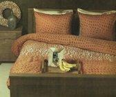 Refined dekbedovertrek Hickory - oranje/bruin - eenpersoons (140x200/220 cm + 1 sloop)