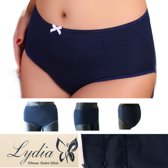 Lydia 3-pack Maxi slip donker blauw maat XL