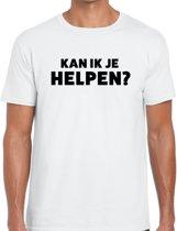 Kan ik je helpen beurs/evenementen t-shirt wit heren - verkoop/horeca shirt L