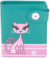 Shagwear Trendy & Funky Compact Vrouwen Portemonnee - Diva Kitty / Kat (0815sm)
