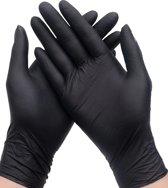 Zwarte latex ok-handschoenen 20 stuks large