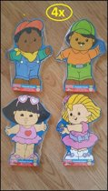 4x houten puzzel Fisher-Price Little people
