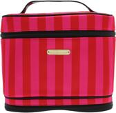 Victoria's Secret L Nylon Train Case Red/Pink Satin Stripe