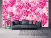 Fotobehang Papier Bloemen   Roze   254x184cm