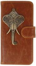 Sony Xperia XZ Premium bruin hoesje olifant brons